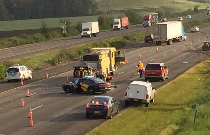 WOODBURN INDEPENDENT FILE PHOTO - Oregon State Police will monitor traffic to ensure safety as ODOT has scheduled construction on I-5 between Woodburn and Salem from mid-May to October.