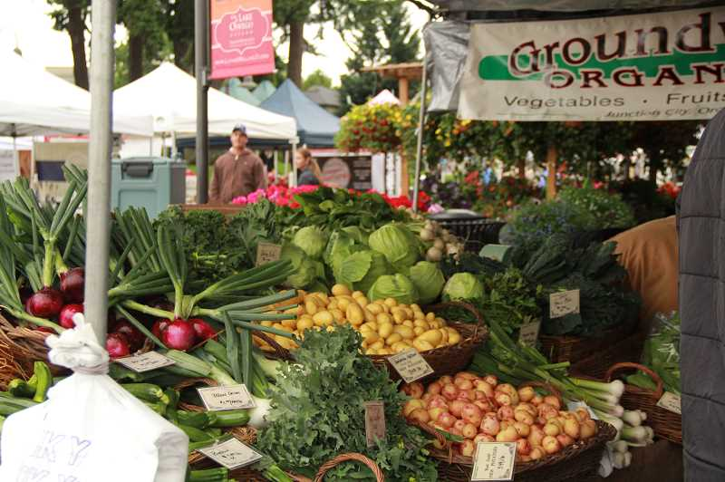 COURTESY PHOTO  - Lake Oswego Farmers Market features an average of 80 vendors each week, offering a variety of foods, produce, crafts and more. It opens at 8:30 a.m., closes at 1:30 p.m.