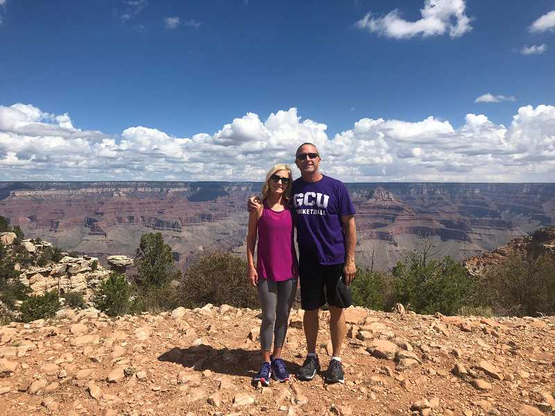 SUBMITTED PHOTO - Madras High School's incoming principal, Brian Crook, and his wife, Michelle, who also works for the 509-J School District, enjoy hiking.