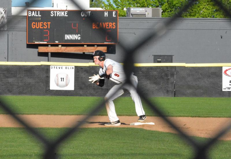 TIMES PHOTO: MATT SINGLEDECKER - Beaverton junior John Oleson had five RBIs and allowed just one hit in relief for the Beavers against Westview.