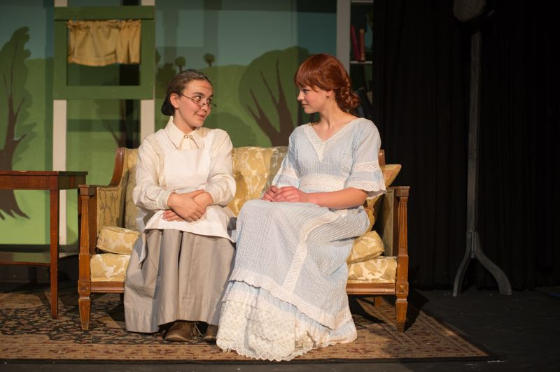 COURTESY PHOTO: JENNIFER JOHNSON - Faith Walker (left) plays Marilla Cuthbert and Maddie Herion plays Older Ann.