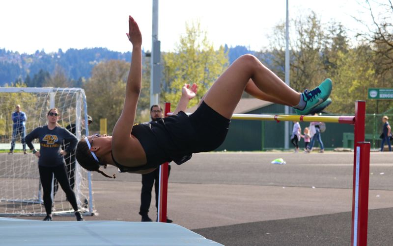 PMG FILE PHOTO: JIM BESEDA - Jumper Savannah Hoffmann is one of St. Helens' multi-event threats to score going into the Northwest Oregon Conference district meet.