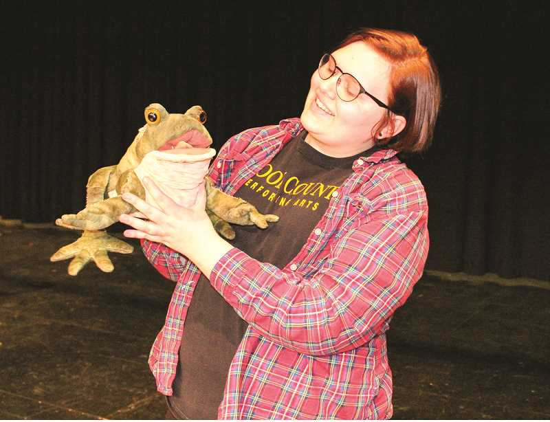 HOLLY SCHOLZ/CENTRAL OREGONIAN   - Crook County High School senior Drew Finley will be a puppeteer with a toad during 'Tuck Everlasting' next week.