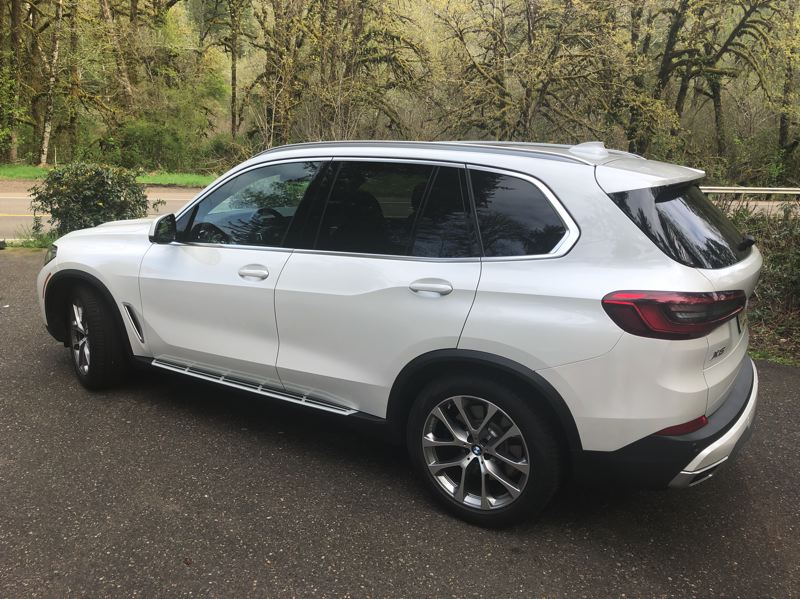 PMG PHOTO: JEFF ZURSCHMEIDE - The 2019 BMW X5 is available with a turbocharged inline six or turbocharged V8 engine, and the legendary optional xDrive system that increases traction in wet weather conditions.