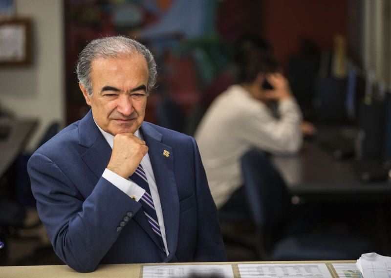 PMG FILE PHOTO - PSU President Rahmat Shoureshi will leave the university in mid-December after resigning Friday, May 10.