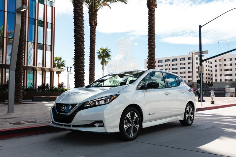 COURTESY NISSAN - The second-generation Nissan Leaf is an attractive cand comfortable ompact hatchback that also happens to run on electricity.