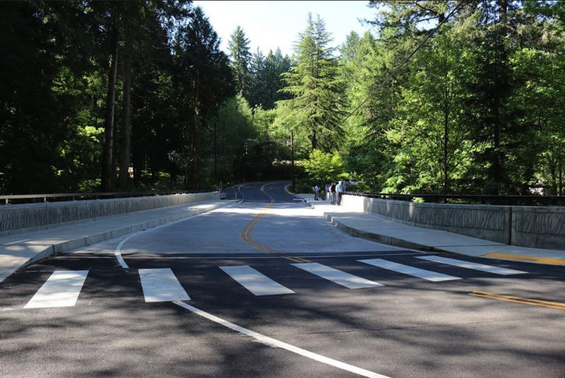 COURTESY PBOT  - The new bridge over Johnson Creek at Southeast 122nd Avenue in Portland cost about $3.5 million in federal dollars.