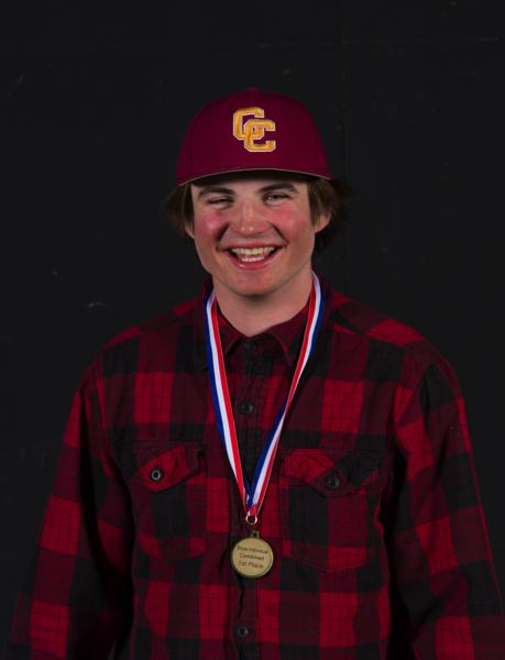 COURTESY PHOTO: MIKE JULIANA PHOTOGRAPHY - Tucker Scroggins shows off his boys individual combined first-place medal from the high school skiing championships.