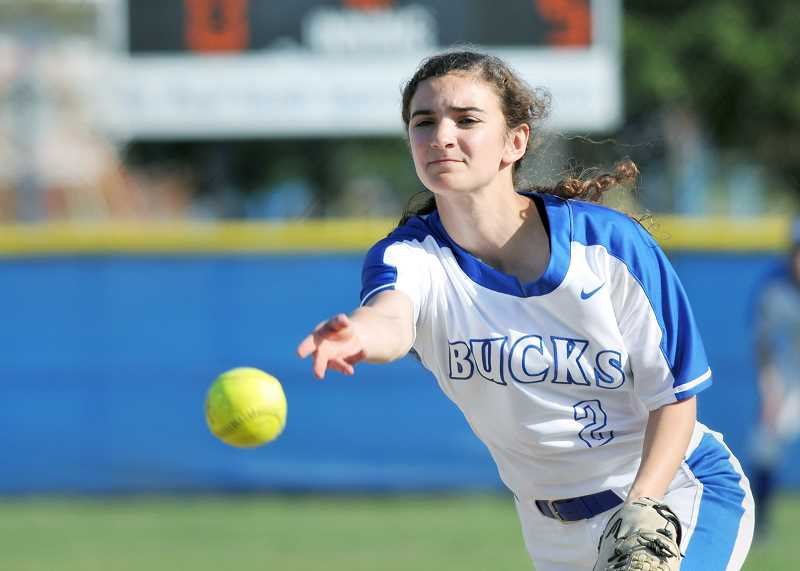 GRAPHIC PHOTO: GARY ALLEN - Senior right-hander Rachel Vela leads a pitching staff that has put together strong outings in recent games.