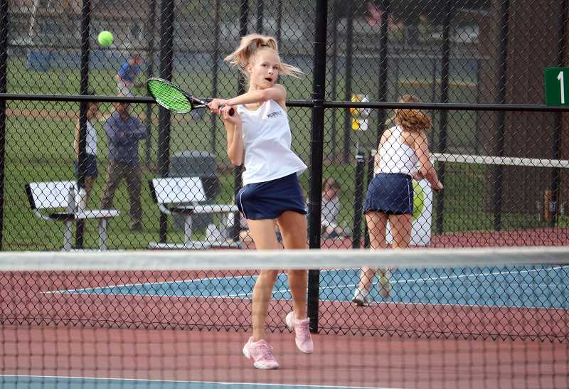PMG FILE PHOTO: JIM BESEDA - Wilsonville senior Izabella Gonzalez finished fourth place in the NWOC districts to advance to the state tournament.