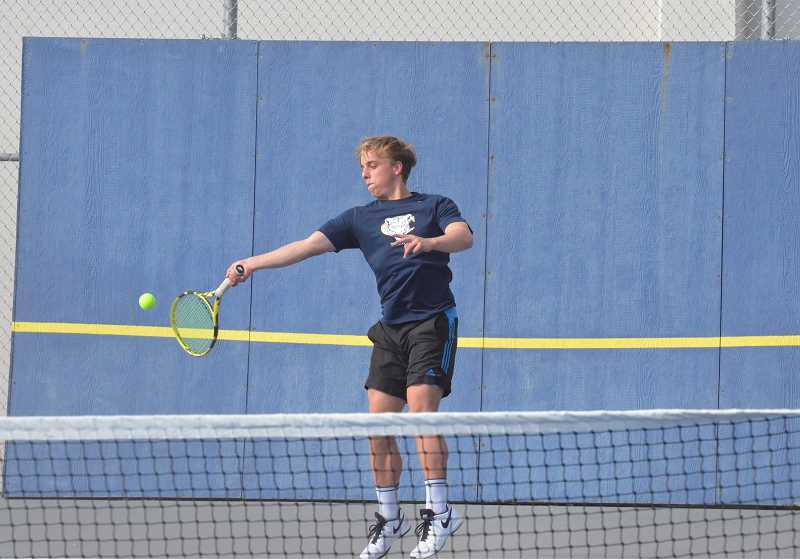 PMG FILE PHOTO: TANNER RUSS - Canby senior Thijs Peperkamp, along with doubles partner JP Phan, picked up a win at the Three Rivers League district meet.