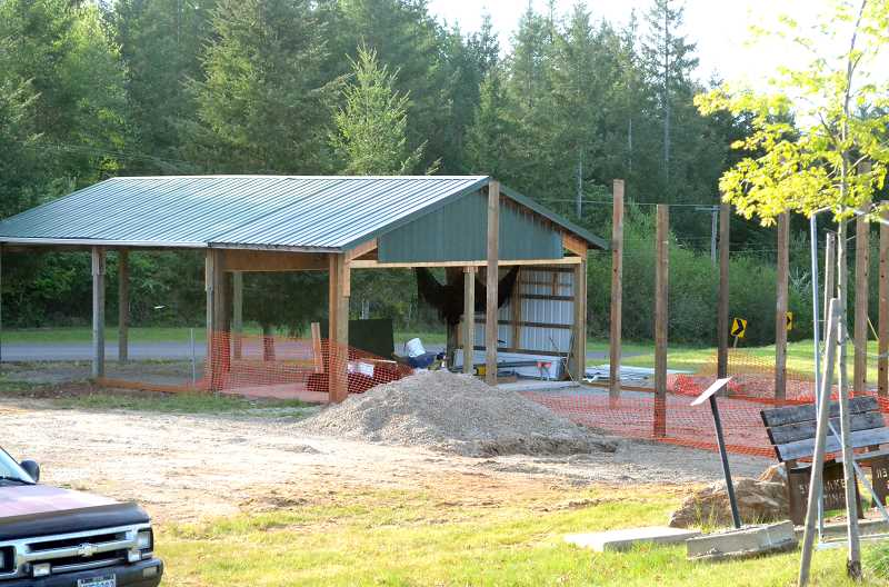 PMG PHOTO: TANNER RUSS - Colton softball is busy building a new hitting area for the team to practice in during off season.