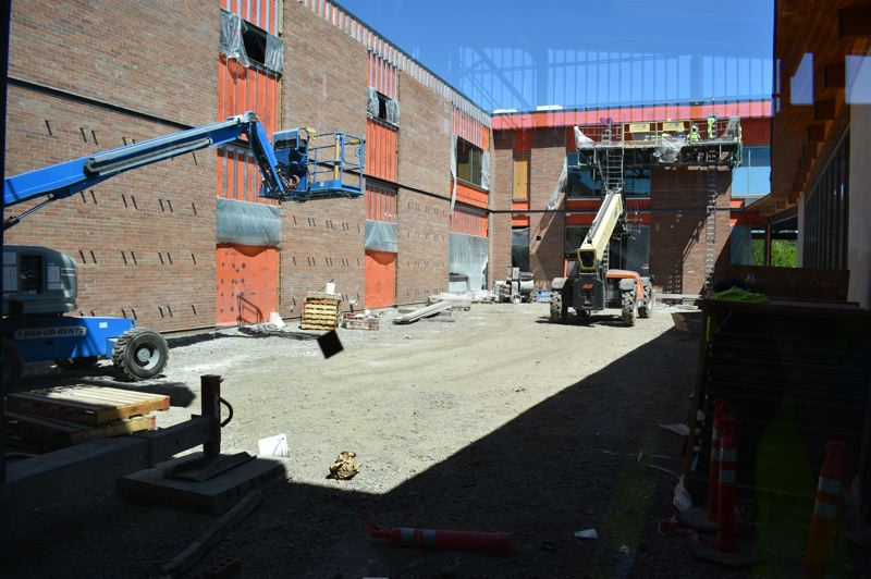 PMG PHOTO: TERESA CARSON - This two-story science wing will have a landscaped courtyard.