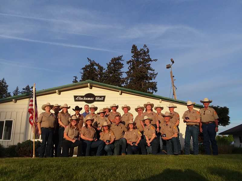 COURTESY PHOTO: CATHY RAE SMITH - The Clackamas County Sheriff's Posse.