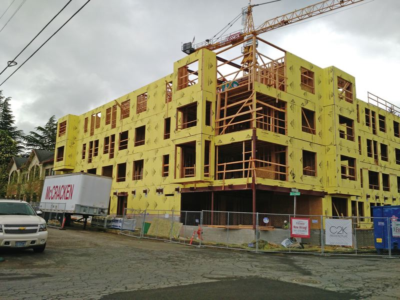 PMF FILE PHOTO - Critics charge the city's Inclusionary Housing policy is slwoing apartment construction. The Portland Housing Bureau disagrees.