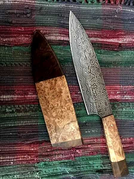 COURTESY PHOTO: TONY FETTERS - Tony Fetters, winner of season five episode 3 of Forged in Fire, has crafted a stunning culinary cutlery knife for the auction.