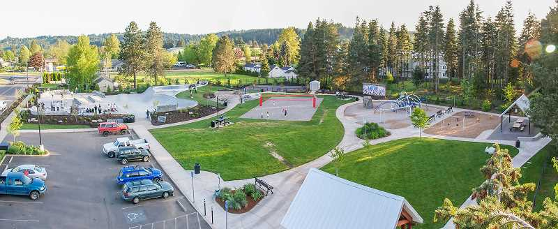 COURTESY PHOTO: CITY OF ESTACADA - A project outlined in the city of Estacada's budget is the addition of a splash pad to Wade Creek Park. The budget will be considered by the City Council next month.