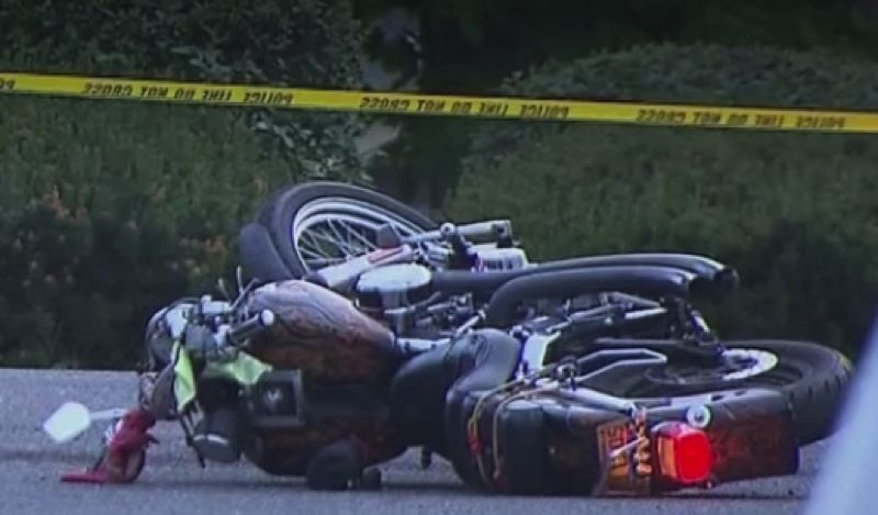 KOIN 6 NEWS - The motorcycle involved in the fatal crash.