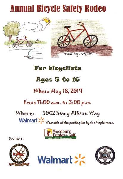 COURTESY PHOTO - The Bicycle Safety Rodeo will be held at the parking lot west of Walmart.