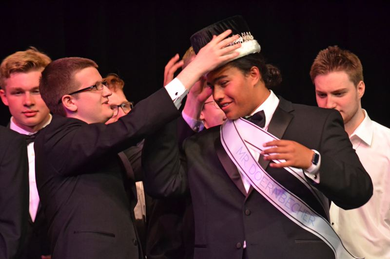 POST PHOTO: BRITTANY ALLEN - Talati Polamalu was crowned 'Mr. Doernbecher' and 'Mr. Congeniality' at pageant on May 4.