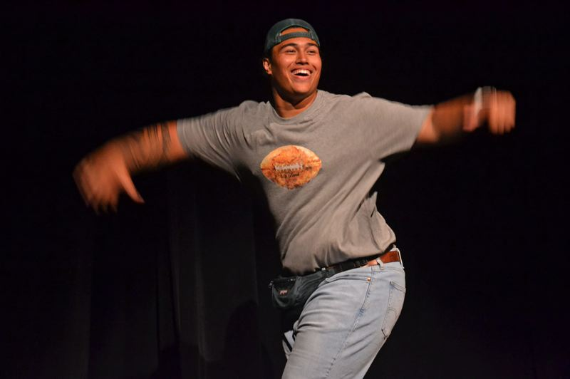 POST PHOTO: BRITTANY ALLEN - Polamalu's talent performance at the Mr. Doernbecher pageant was an imitation of Justin Timberlake and Jimmy Fallon's 'Evolution of Dance.'