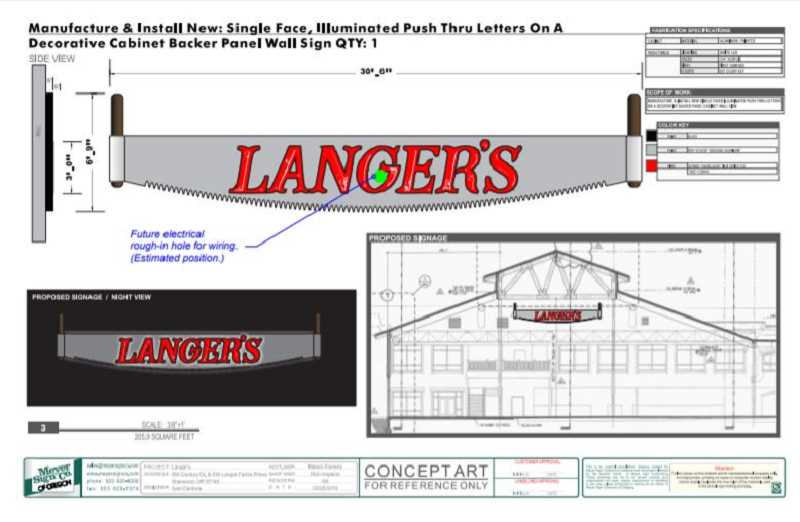 COURTESY OF MATT LANGER - The name of the new Sherwood entertainment complex will highlight not only Oregon history but will hightlight the farming/ranching activities the Langer family has been involved with since 1879.