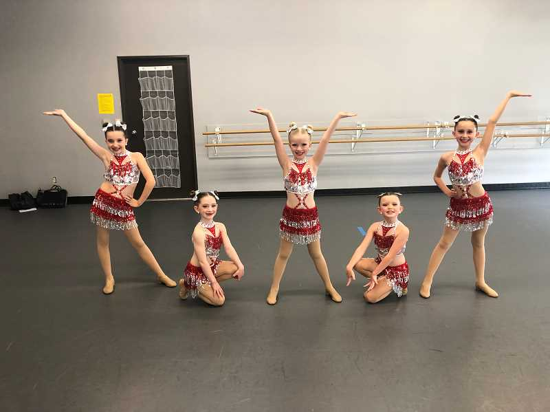 PGM STAFF: BARB RANDALL  - Dancers from Lake Oswego Academy of Dance will perform Sunday, May 19 from 9 a.m. to 4:30 p.m. to raise funds for Lake Oswego Meals on Wheels at the Lake Oswego Adult Community Centers. Dancers include from left, Charlotte Truax, Lucy Jetton, Remi Williams, Emerson Slinde and Emery Rayden.