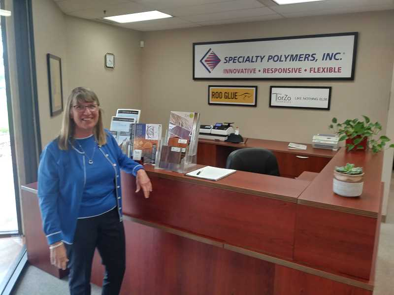 PMG PHOTO: JUSTIN MUCH - Sheryl Southwell, the president and CEO of Woodburn-based Specialty Polymer, is the daughter of Raymond Southwell, who founded the company in his garage in 1969.