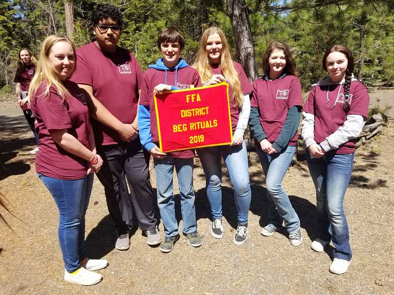 SUBMITTED PHOTO - Madras FFA's beginning rituals team places second at the Central Oregon District Leadership Camp at Suttle Lake.