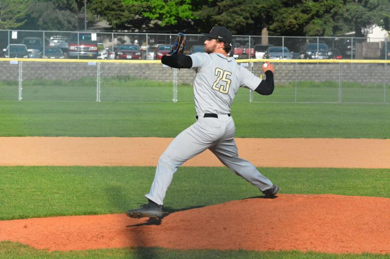 TIMES PHOTO: MATT SINGLEDECKER - Southridge senior righty Cam Carlson threw another shutout against Aloha last week.