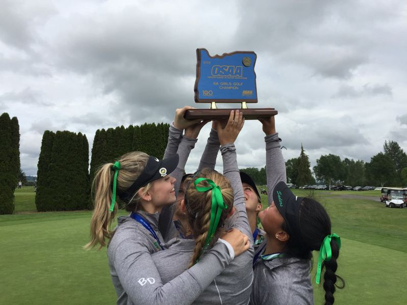 SUBMITTED PHOTO: JESUIT HIGH SCHOOL - The Jesuit girls golf team won its second straight Class 6A state championship this week.