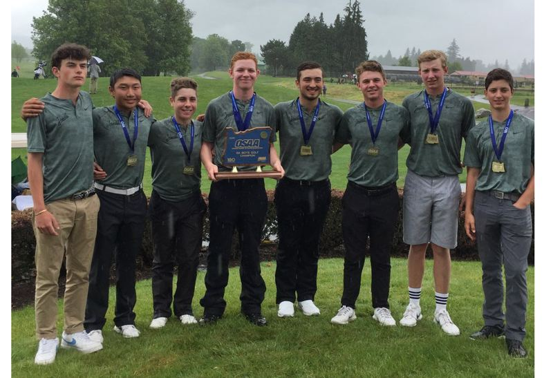 COURTESY PHOTO: JESUIT HIGH SCHOOL - The Jesuit boys golf team won its third straight Class 6A state championship this week.