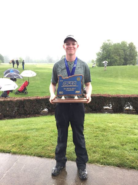 COURTESY PHOTO: JESUIT HIGH SCHOOL - Jesuit junior Andrew Reinhardt won the Class 6A state championship this week.
