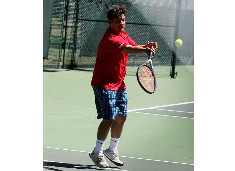 STEELE HAUGEN - Angel Ramos (pictured) and doubles partner Sebastian Norato made it to the condolation finals match, but lost at the district tournament.