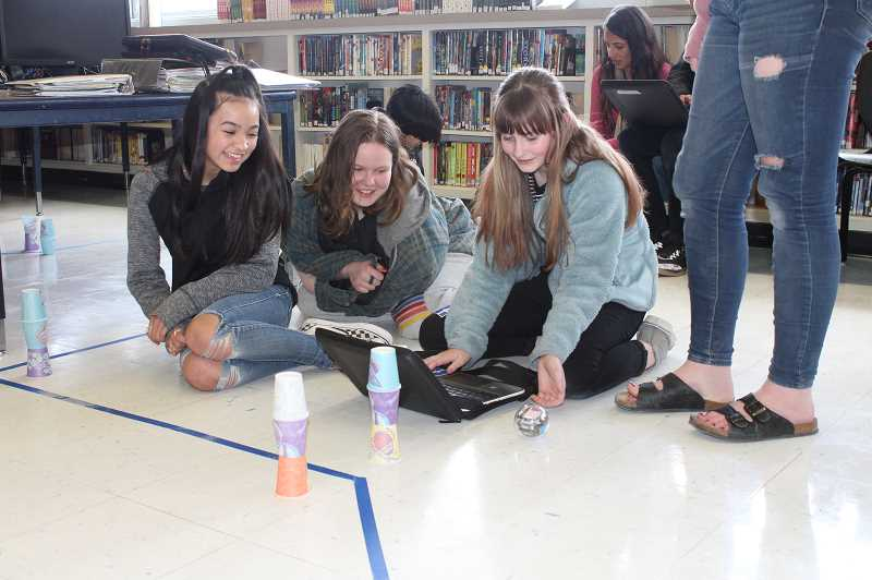 CENTRAL OREGONIAN - Crook County Middle School engineering students learn to program Sphero BOLT robots. The proposed 2019-2020 school district budget will allow for expanded career technical education programs.