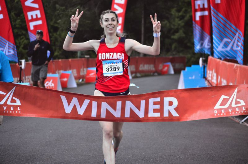 POST PHOTO: BRITTANY ALLEN - Corrine Murray of Portland took first place in the women's division of the half marathon last year with a time of 1:25:29:12.