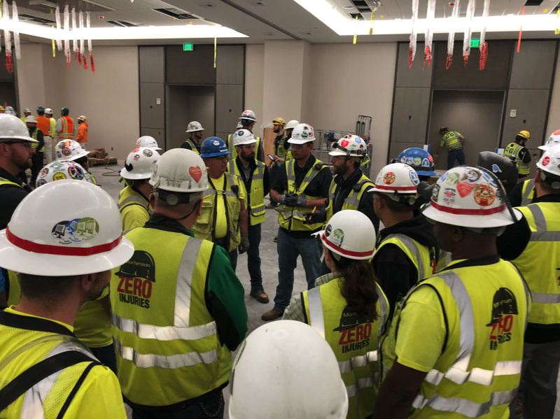 COURTESY: MORTENSON - The Hard Hats With Heart program works best with strong buy-in from company leaders and project site management.