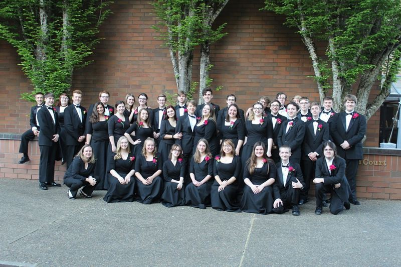 COURTESY PHOTO:  KAREN HIMES - The St. Helens High School wind ensemble earned a fourth-place title at the Oregon Scholastic Activities Association state band championships held Friday, May 10.