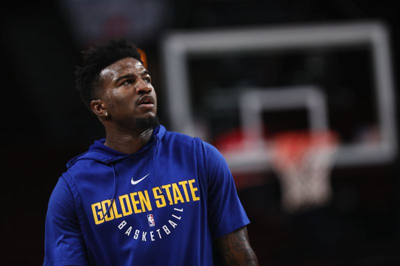 PMG FILE PHOTO: DAVID BLAIR - Jordan Bell won an NBA championship coming off the bench as a rookie out of Oregon, then had a lesser role in his second regular season, but has been helping Golden State with more action in the NBA Western Conference finals against the Trail Blazers.