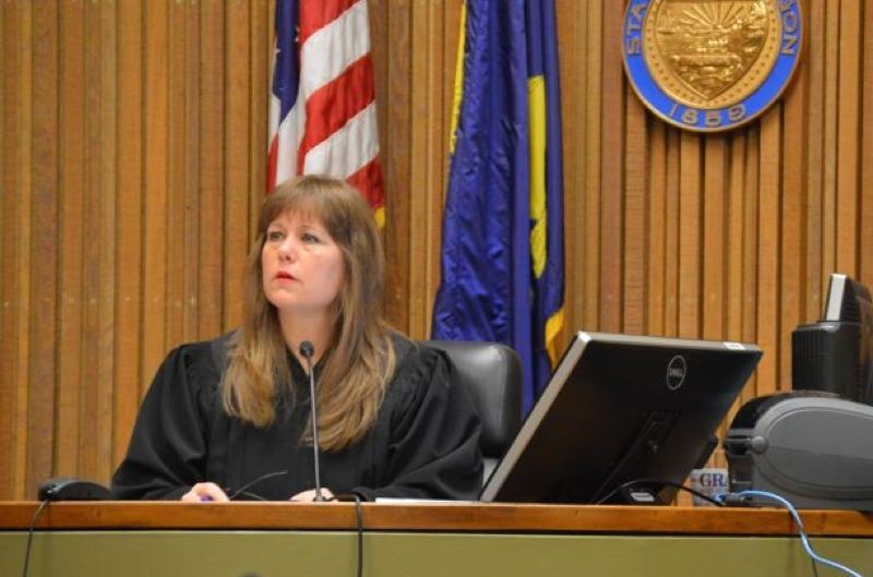 PMG FILE PHOTO - Columbia County Circuit Judge Jenefer Grant appears in a Columbia County courtroom. An investigation prompted by claims Grant made about stalking by Community Justice Director Janet Evans found that Grants claims ranged from unsubstantiated to blatantly false.