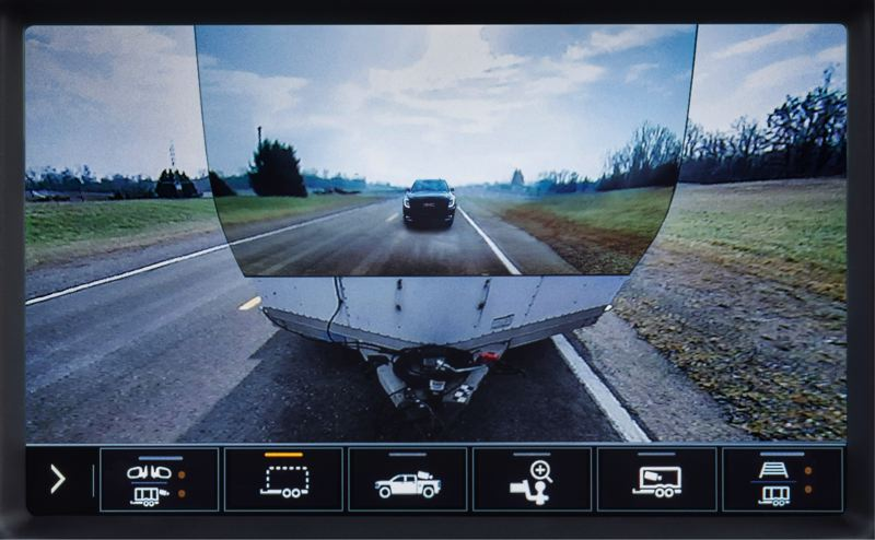 COURTESY GMC - The 2020 Sierra 1500 will feature GMC's ProGrade Trailering System., which uses up to 15 cameras to aid in connecting and towing any trailer.
