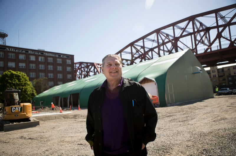 PMG FILE PHOTO - Don Mazziotti in front of the nearly complete River District Navigation Center.