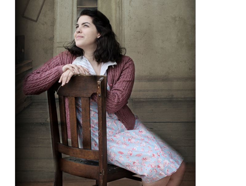 SUBMITTED PHOTO - Casey McGuire plays Anne Frank in the multimedia play directed by Julie Akers.