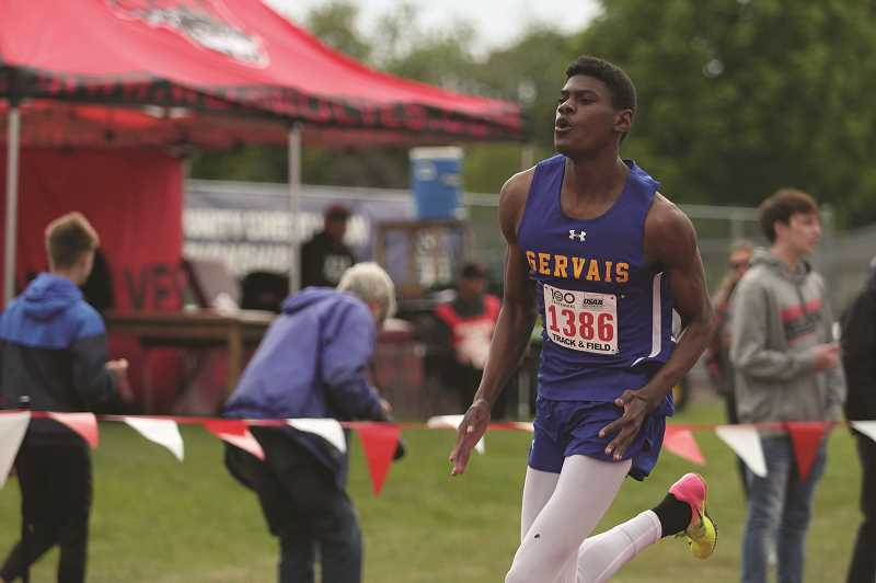 PMG PHOTO: PHIL HAWKINS - Gervais sophomore Brian Limage placed third in the 400-meter run at the 2019 2A Track and Field State Championships.