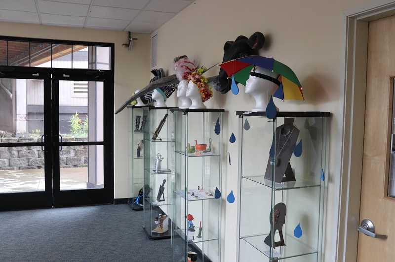 COURTESY PHOTO: ANDREW KILSTROM - Many headpieces were created for the districtwide art show.