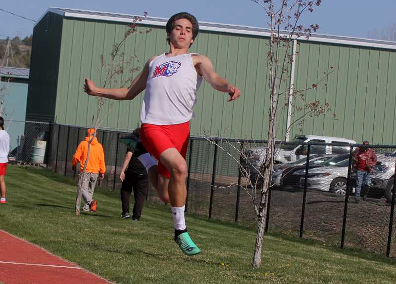 STEELE HAUGEN - Dalton Waldow placed fourth in the long jump with a leap of 21-00 at the state meet at Mt. Hood Community College May 17-18.