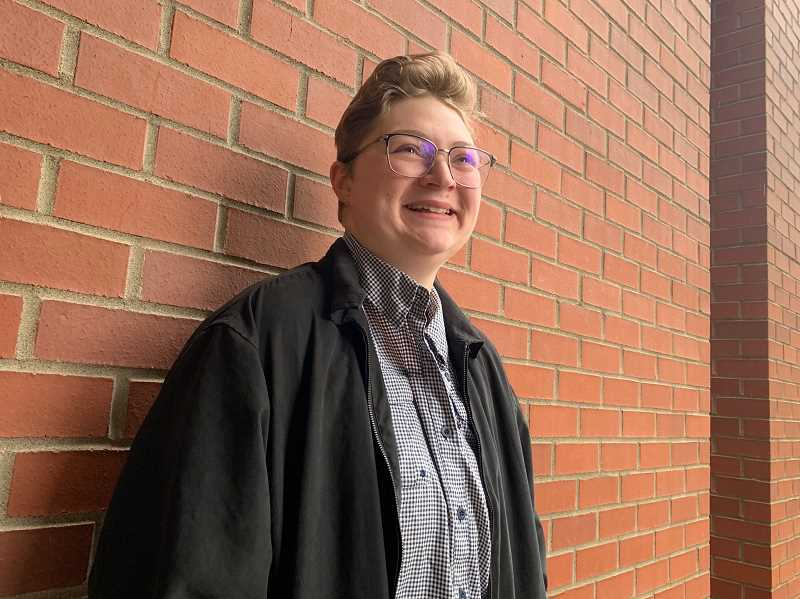 PMG PHOTO: JANAE EASLON - Jaye Adams is a Pacific University student studying literature and is involved in the Center of Gender Equity programming on campus. Adams helped start Spectrum Outreach, a LGBTQ support and social group for Washington County.