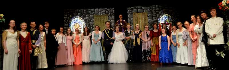 PMG PHOTO: CINDY FAMA - The cast of the CHS spring musical, Cinderella.