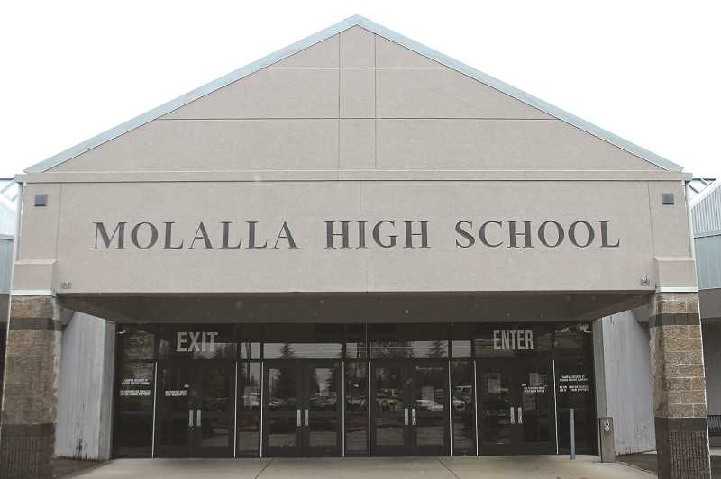 PMG FILE PHOTO - Students push to allow students to leave the Molalla High School campus during lunchtime.
