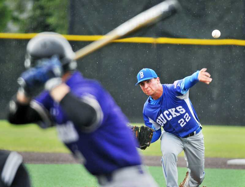 GRAPHIC PHOTO: GARY ALLEN - Senior left-hander Justin Herberger has been a key component in St. Paul's success this season.